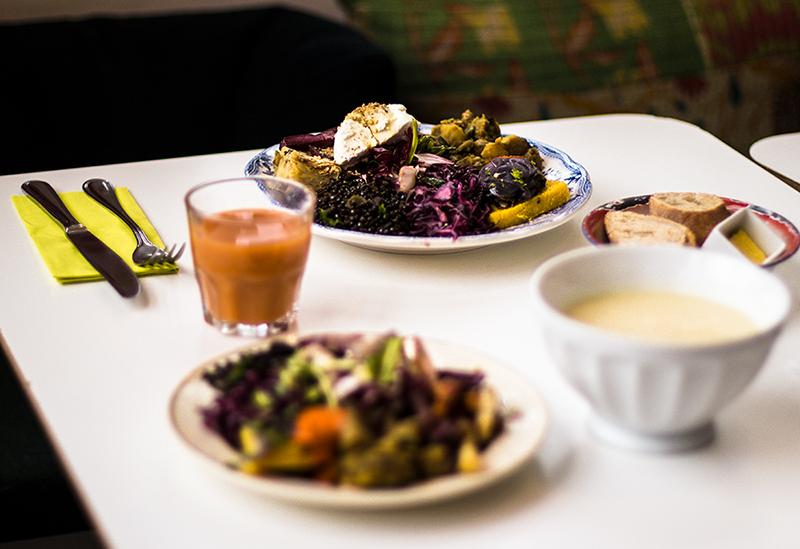 assiette de bons légumes chez josy