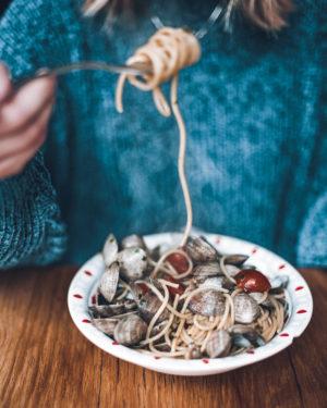 Spaghettis Vongole - Cocina